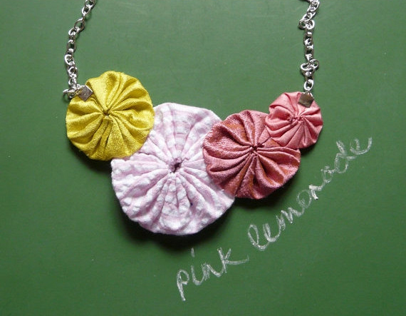 pink lemonade necklace cookoorikoo