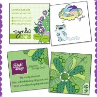 Cynla &amp; Yukishop Business Card Designs