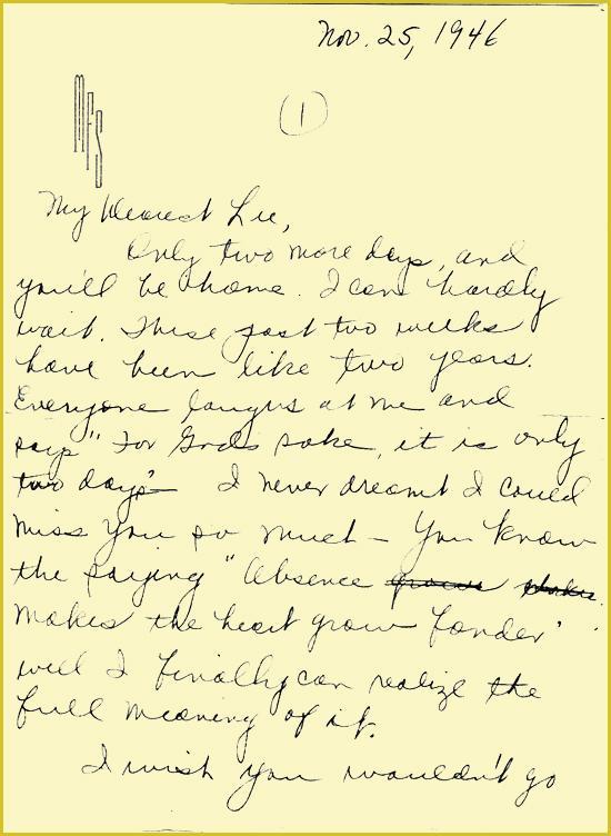 Leon & Muriel Love letter 2
