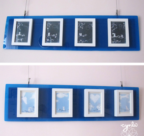 Starry and Cloudy cards framed - Cards by Cynla