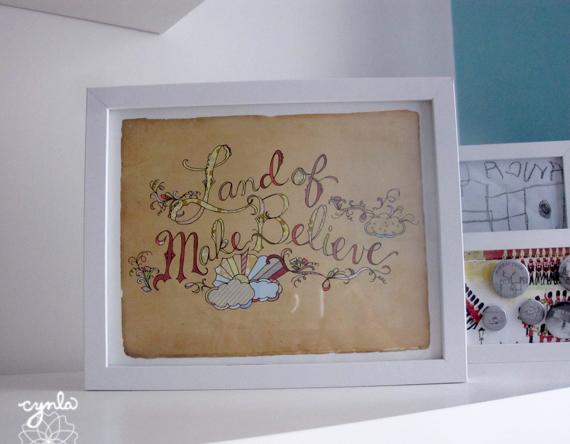 Land of Make Believe Print by Cynla. cynla.etsy.com