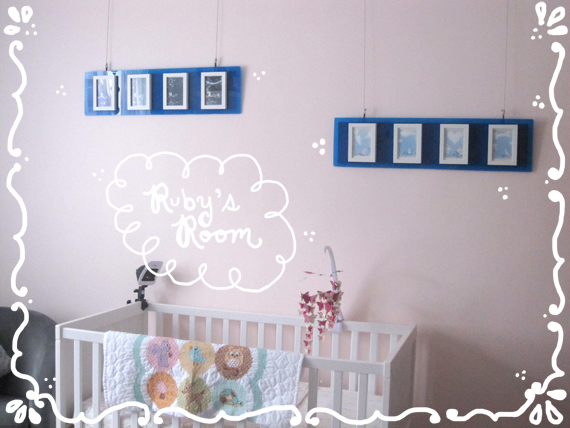 Ruby's Room decorated with Cynla art!