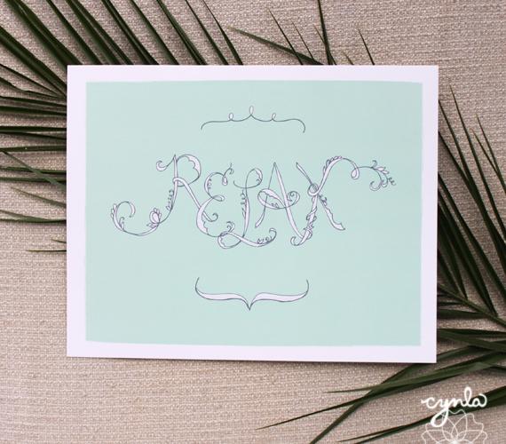 Cynla relax mint print