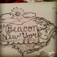 beacon NY Sketchbook lettering