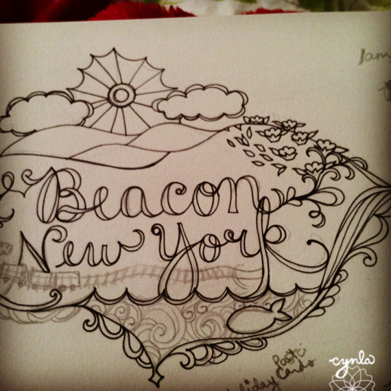 beacon NY Sketchbook lettering by cynla