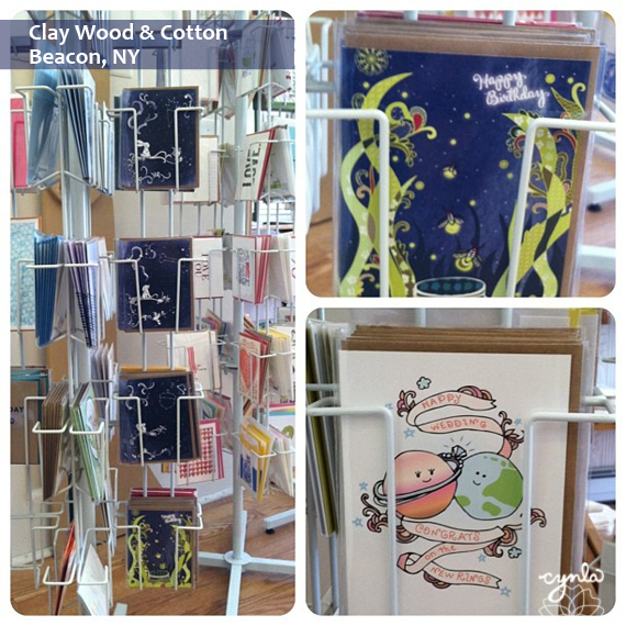 Cynla cards at Clay Wood & Cotton