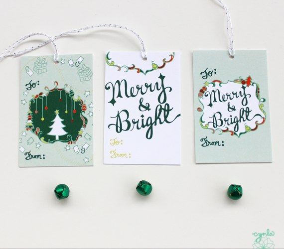 cynla merry & bright tags