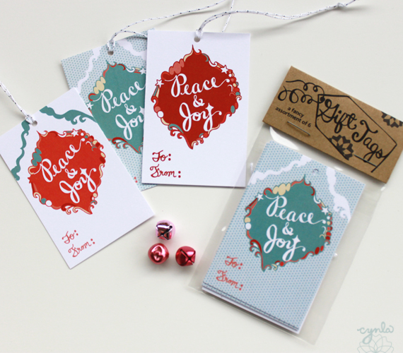 peace and joy tags by cynla