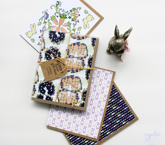 bunny Lover gift box set of cards