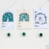 Snowman Tags by cynla