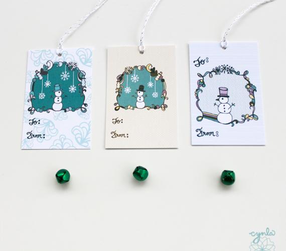 Snowman Tags by cynla