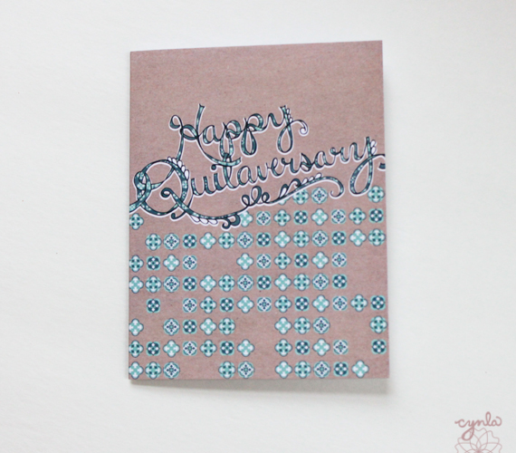 cynla Happy Quitaversary Card