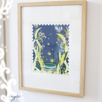 fireflies framed in my house