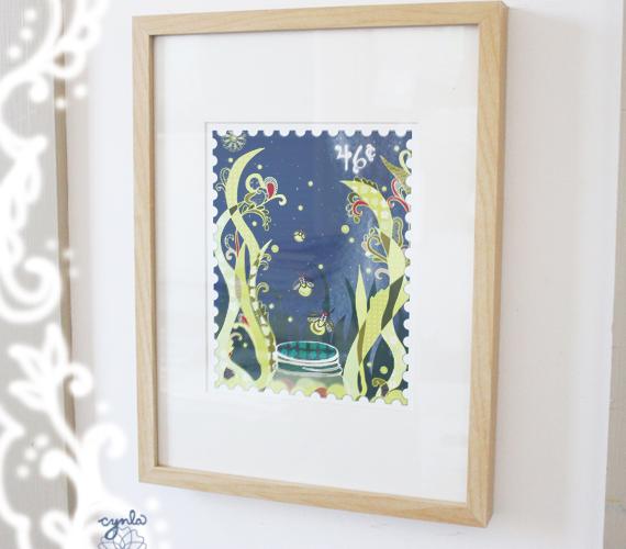 fireflies framed in my house
