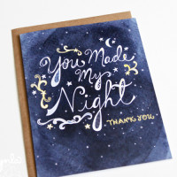 You Made My NIght Thank you card by cynla