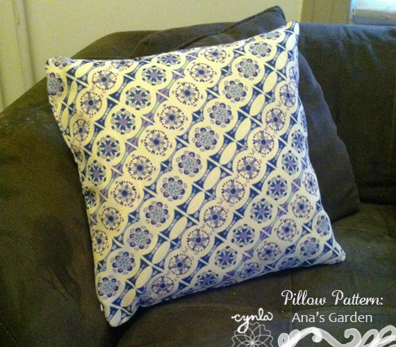 Anas Garden Pattern Pillow by Cynla