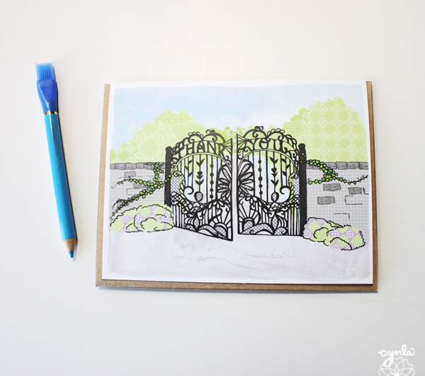 Spring Gate Thank You Cards by cynla