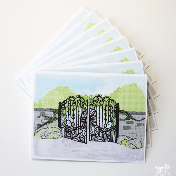 Spring Gate Thank You Card Set by cynla