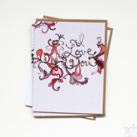 I love you Hand lettering Greeting card by cynla