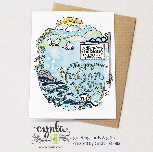 Hudson Valley Card for Bazaar on Hudson by Cynla