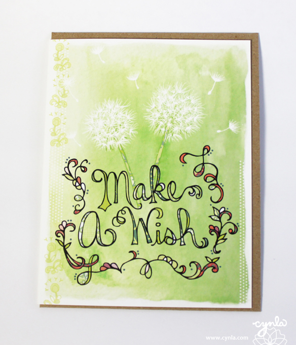 Wish Dandelion Birthday Card by cynla