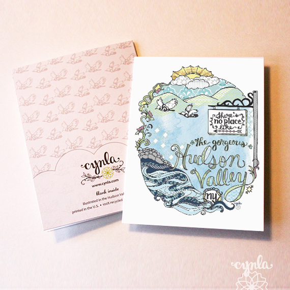 Hudson Valley Card Best-Seller at the Bazaar-On-Hudson by cynla