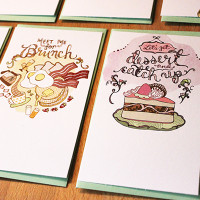 brunch and dessert flat card by Cindy LaColla