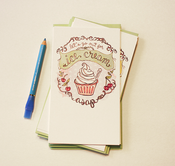 Get-Togethers Flat notes - GT04 Icecream - by cynla