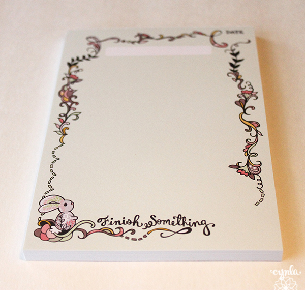 Bunny Finish Notepad by Cynla