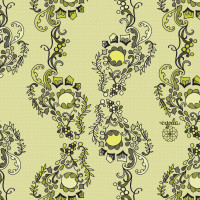 riverbed in green pattern by cynla