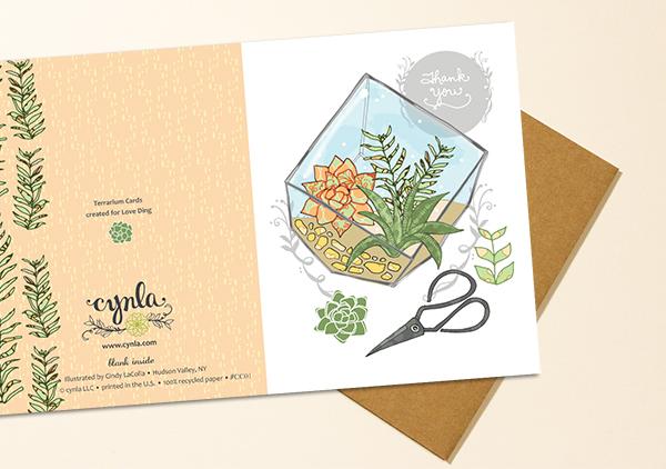 Love Ding Terrarium Card by Cynla