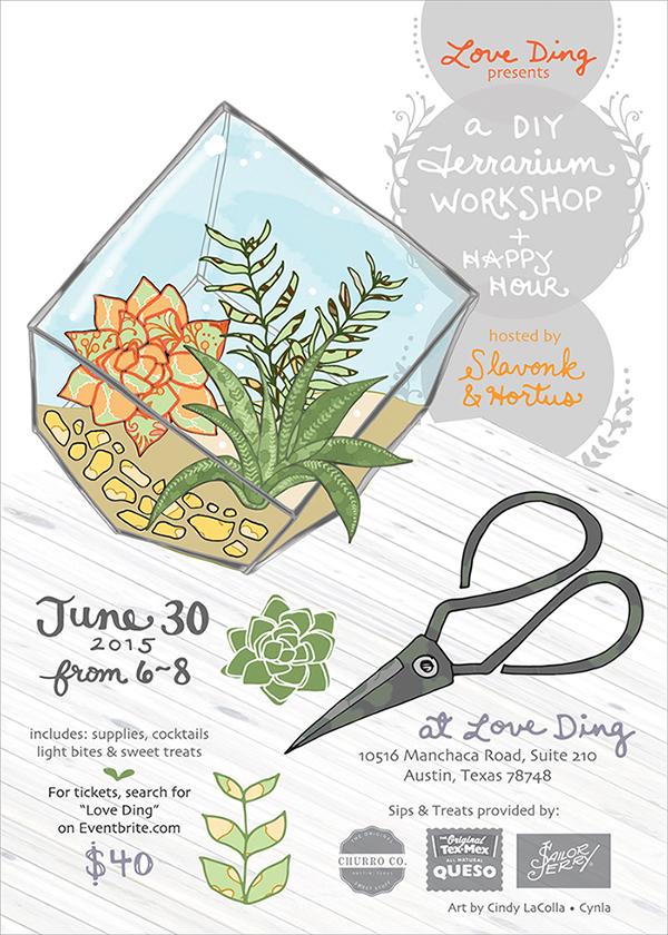 Love Ding Terrarium Workshop Invite by Cynla